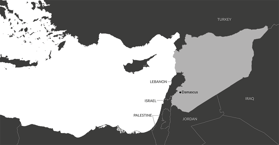 Syria | IDMC on cairo world map, istanbul world map, beirut world map, thebes world map, delhi on world map, ashgabat world map, basra world map, naples world map, mecca world map, middle east map, arabia world map, calicut on world map, harappa world map, algiers world map, samarkand world map, tehran world map, timbuktu world map, jerusalem world map, tripoli world map, palestine world map,