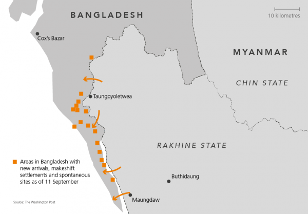 Rohingya map