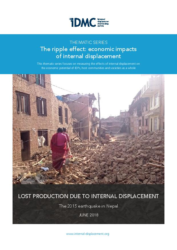 Lost production due to internal displacement - The 2015 earthquake in Nepal