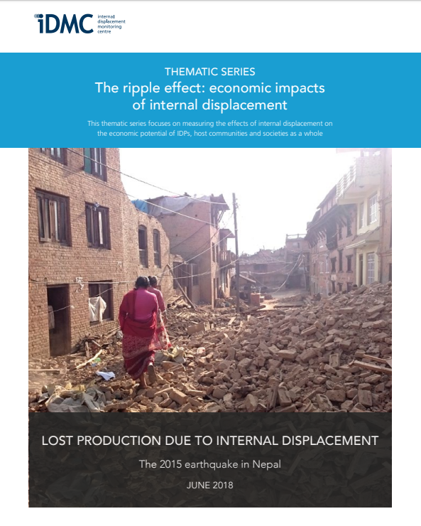 Lost production due to internal displacement: the 2015 earthquake in Nepal