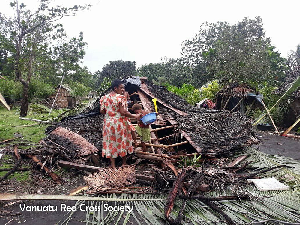 Heavy rainful and flooding destroyed homes in Vanuatu