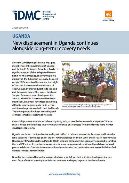 Uganda: New displacement in Uganda continues alongside long-term recovery needs