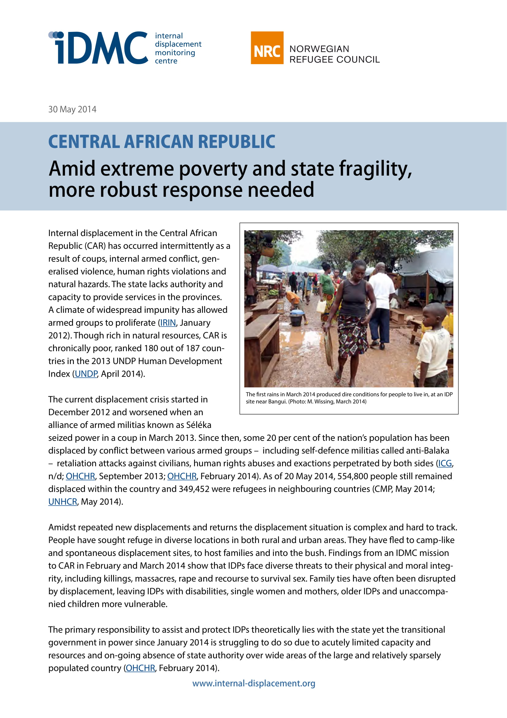 Central African Republic: Amid extreme poverty and state fragility, more robust response needed