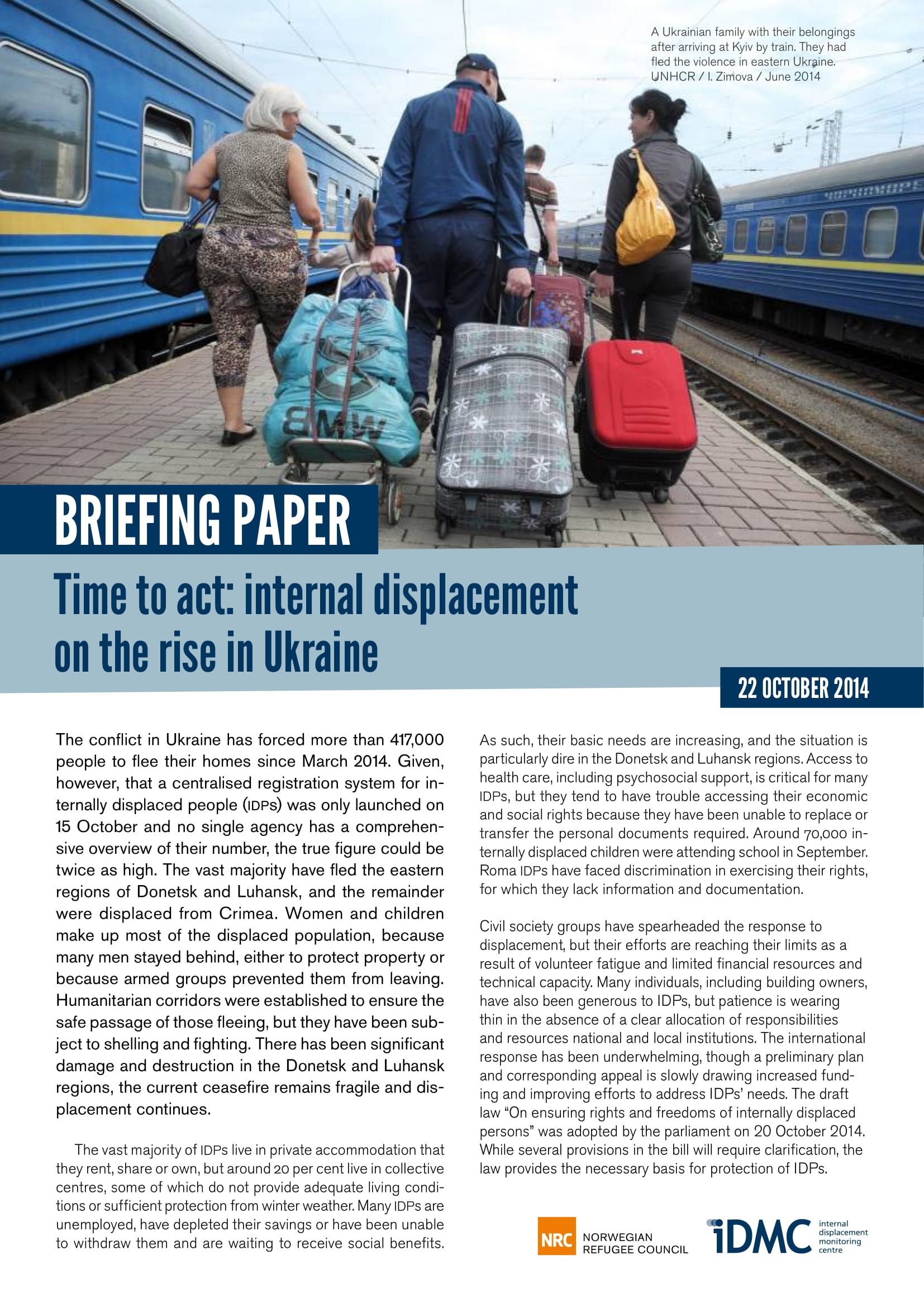 Time to act: internal displacement  on the rise in Ukraine