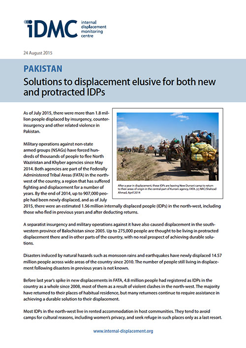 Pakistan: Solutions to displacement elusive for both new and protracted IDPs