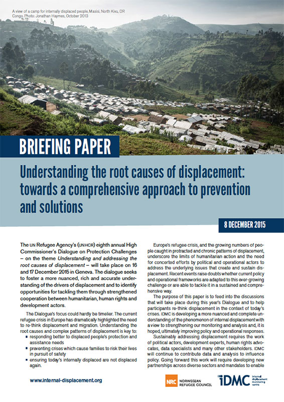 Understanding the root causes of displacement: towards a comprehensive approach to prevention and solutions