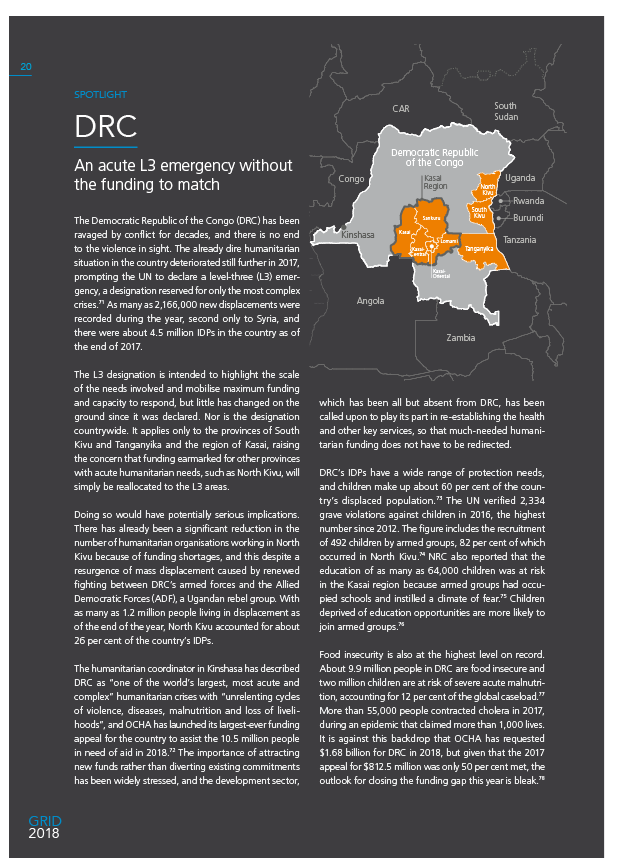 DRC: An acute L3 emergency without the funding to match