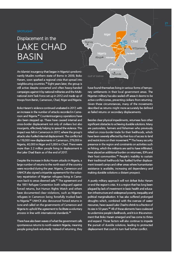 Displacement in the Lake Chad Basin