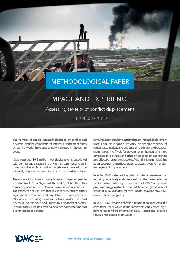 Impact and experience - Assessing severity of conflict displacement