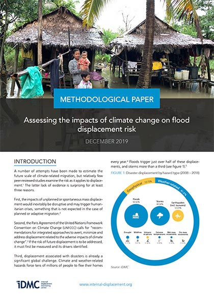 Assessing the impacts of climate change on flood displacement risk