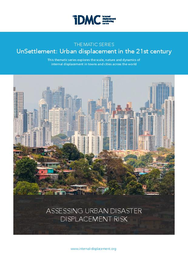 Assessing urban disaster displacement risk